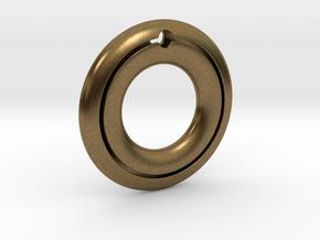 Pendant01-Slot in Natural Bronze
