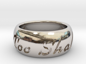This Too Shall Pass ring size 7.5 in Rhodium Plated Brass