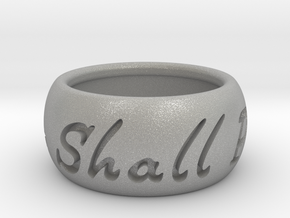 This Too Shall Pass ring size 5 in Aluminum