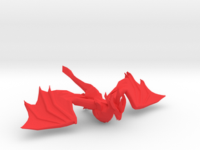 PENDRAGON THE RED DRAGON in Red Processed Versatile Plastic