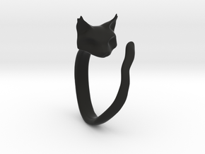 Cat Ring in Black Strong & Flexible