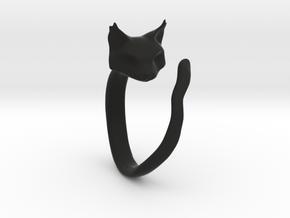 Cat Ring in Black Natural Versatile Plastic