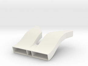Toyota Eagle MkIII Radiator Inlet Ducts, 1/24 in White Natural Versatile Plastic