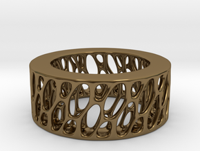 Framework Ring- Intrincate Smooth Simple in Polished Bronze