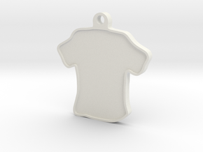 Keychain- Shirt in White Natural Versatile Plastic