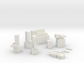 Jazz Trio in White Natural Versatile Plastic