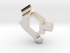 Head Turner: Cutter Edition in Rhodium Plated Brass