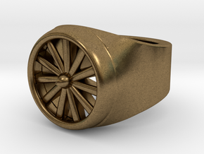 Jet Engine Ring 9.5  in Natural Bronze