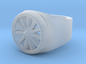 Jet Engine Ring 9.5  in Smoothest Fine Detail Plastic