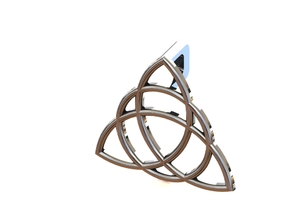 Charmed Triquetra Pendant in Fine Detail Polished Silver
