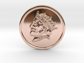 Silver Trenni Coin in 14k Rose Gold