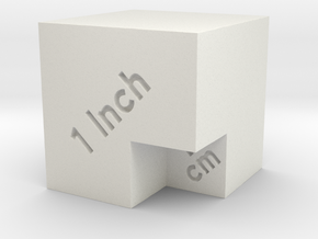 Scale Cube for photos in White Natural Versatile Plastic