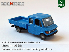 Mercedes-Benz 207D Doka (N 1:160) in Smooth Fine Detail Plastic