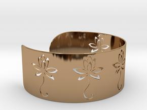 Ø2.677 inch/Ø68 mm Flower Bracelet in Polished Brass