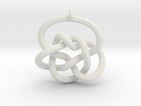 Knot Pendant (Earrings) in White Natural Versatile Plastic