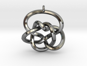Knot Pendant (Earrings) in Polished Silver