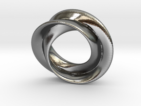Mobius rose 26mm in Polished Silver