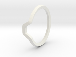 BETTER HALF Ring(HEXAGON), US size 11 d=20,5mm in White Natural Versatile Plastic: 11 / 64