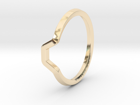 BETTER HALF Ring(HEXAGON), US size 11 d=20,5mm in 14k Gold Plated Brass: 11 / 64