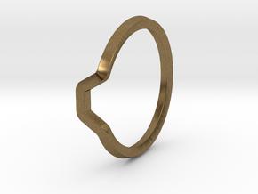 BETTER HALF Ring(HEXAGON), US size 12.5, d=22mm  in Natural Bronze: 12.5 / 67.75
