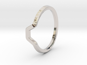 BETTER HALF Ring(HEXAGON), US size 4.5, d=15mm  in Platinum: 4.5 / 47.75