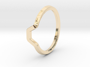 BETTER HALF Ring(HEXAGON), US size 4.5, d=15mm  in 14k Gold Plated Brass: 4.5 / 47.75