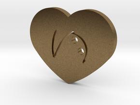 Moon-glyph-heart-hope in Natural Bronze