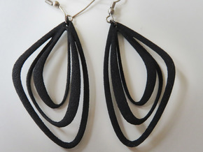 The Minimalist Earrings Set I (1 Pair) in Black Natural Versatile Plastic