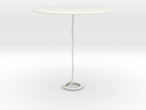 Modern glass table in White Natural Versatile Plastic