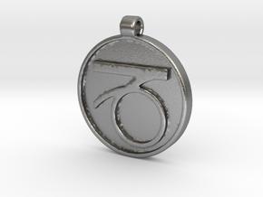 Zodiac KeyChain Medallion-CAPRICON in Natural Silver