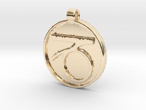 Zodiac KeyChain Medallion-CAPRICON in 14k Gold Plated Brass