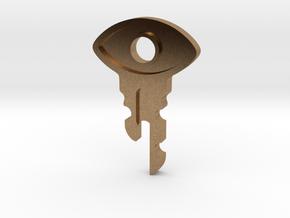 Satellite Key in Natural Brass