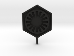 First Order Pendant in Black Natural Versatile Plastic