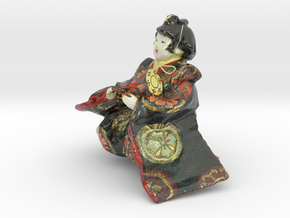 The Japanese Hina Doll-3-mini in Glossy Full Color Sandstone