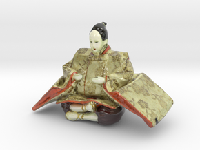 The Japanese Hina Doll-6-mini in Glossy Full Color Sandstone