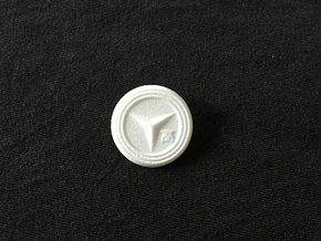 Yasogami High Button in White Processed Versatile Plastic