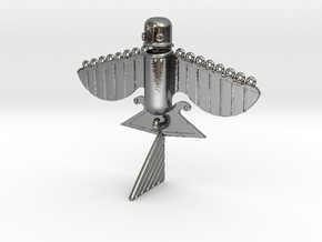 Bird ancient flying machine in Polished Silver
