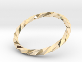 Twistium - Bracelet P=170mm Color in 14k Gold Plated Brass
