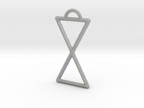 Hourglass Pendant in Aluminum