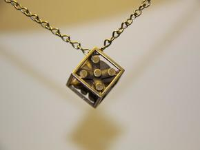 magic dice in Polished Bronzed Silver Steel