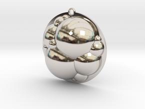 Bubbles Pendant in Rhodium Plated