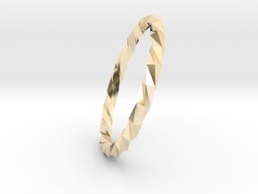 Twistium - Bracelet P=200mm Color in 14k Gold Plated Brass