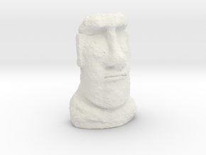 N Gauge Moai Head (Easter Island head) in White Natural Versatile Plastic