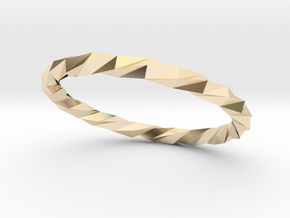Twistium - Bracelet P=210mm Color in 14k Gold Plated Brass