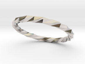 Twistium - Bracelet P=210mm Color in Rhodium Plated Brass