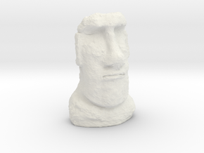 HO Gauge Moai Head (Easter Island head) in White Natural Versatile Plastic