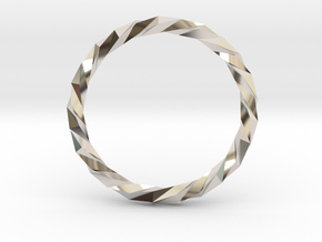 Twistium - Bracelet P=230mm Color in Rhodium Plated Brass