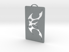 Tattoo Tribal pendant in Polished Metallic Plastic