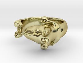 Bull Terrier Dog ring in 18K Gold Plated