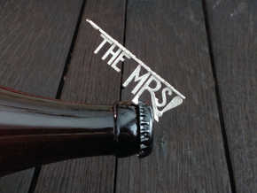 The Mrs Bottle Opener Keychain in Polished Nickel Steel